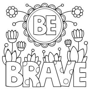 Coloring Book be brave