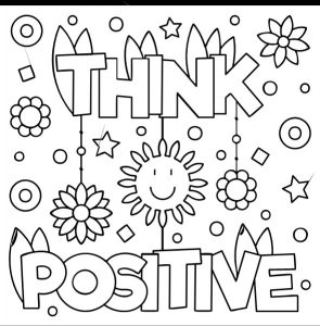Coloring Book think positive