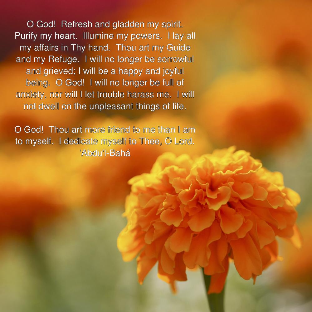O God! Refresh and Gladden My Spirit